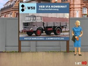 1/87 H0 Billboard IFA LKW W50