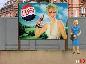 1:87 H0 Plakatwand Pepsi Cola