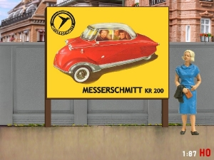 1:87 H0 Plakatwand Messerschmitt KR 200