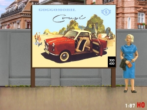 1:87 H0 Plakatwand Goggomobil Coupe