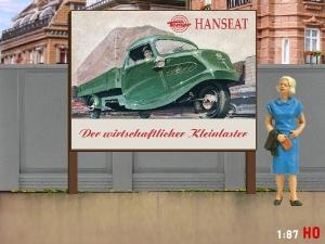 1:87 H0 Plakatwand Tempo Hanseat