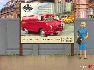 1:87 H0 Plakatwand Tempo Wiking Rapid 1100