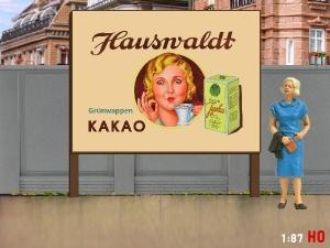 1:87 H0 Plakatwand Hauswaldt KAKAO