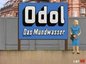 1:87 H0 Plakatwand ODOL Mundwasser