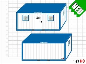 1:87 Spur H0 Bausatz Büro Container
