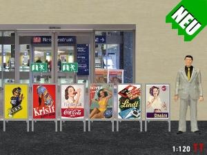 1:120 TT Werbeaufsteller Bausatz Epoche lll