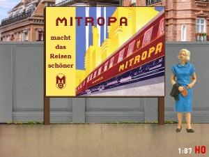 1:87 H0 Plakatwand MITROPA
