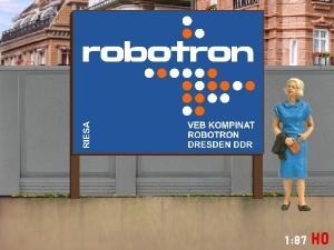 1:87 H0 Plakatwand ROBOTRON