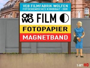 1:87 H0 Plakatwand ORWO FILM