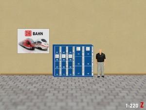 1:220 Spur Z Gepäckschließfach (Blau)