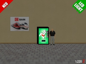 1:220 Spur Z LED 9V 7UP Automat beleuchet