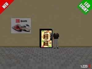 1:220 Spur Z LED 9V M&M Automat beleuchet