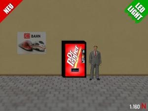 1:160 Spur N LED 9V Dr Pepper Automat beleuchet