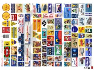 1:160 Spur N Bausatz Werbeplakate Epoche lll