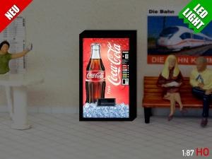 1:87 Spur H0 LED 9 - 12V Coca Cola Automat beleuchet